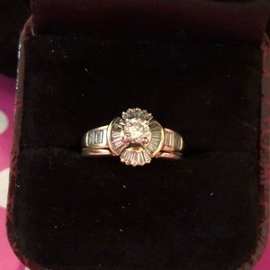 Jewelry - 14k yellow gold 1 tcw natural diamond ring